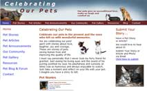 Celebrating Our Pets Web Site